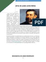 Biografia de Juan Leon Mera