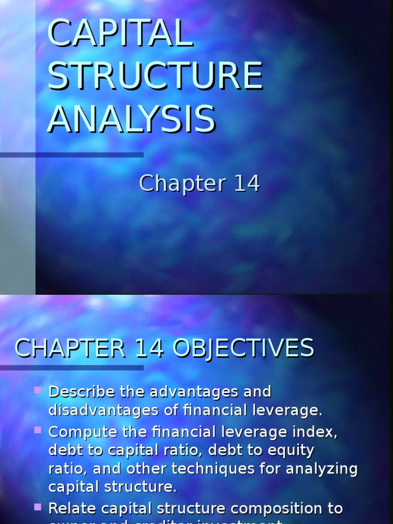capital structure analysis amazon Chapter 12 capital structure analysis chapter 13 dividend analysis chapter 14 foreign exchange risk analysis chapter 15 interest rate risk analysis part v - forecasting chapter 16 financial forecasting chapter 17 managing the rate of growth part vi - investment analysis chapter 18 the cost of capital chapter 19 discounted cash.