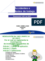 Accidentes e Incidentes de Trabajo