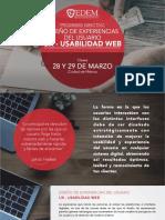 Programa Diseno de Experiencias Del Usuario UX Usabilidad Web