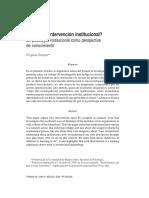 Unidad 11 Que es la intervencion institucional (schejter).pdf