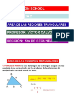 Area de Las Regiones Triangulares
