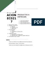 Productos a Entregar Ec0217