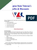 Vet State Benefits & Discounts - WA 2017