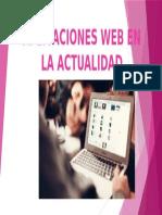 Aplicaciones Web en La Actualidad
