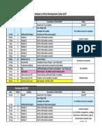 online course development schedule17-18