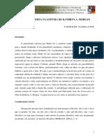 1 MITO E FILOSOFIA NA LEITURA DE KATHRYN A. MORGAN