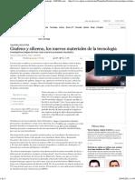 Grafeno y Siliceno Los Nuevos Materiales de La Tecnologia