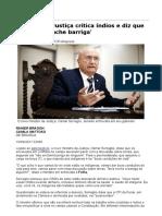 Ministro Da Justiça Critica Índios e Diz Que 'Terra Não Enche Barriga' - 10-03-2017 - Poder - Folha de S