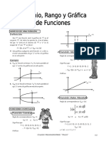 Funciones - Dominio, Rango y Gráfica