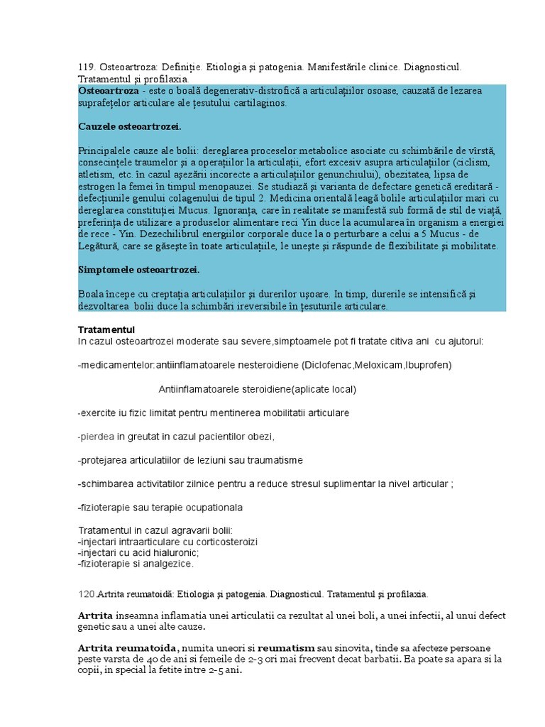 antiinflamatoare nesteroidiene în tratamentul articulațiilor)