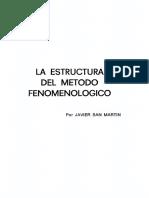 San Martin Javier - La Estructura Del Método Fenomenológico