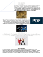 15 Tipos de Danza