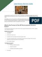 AP Environmental Science Guide