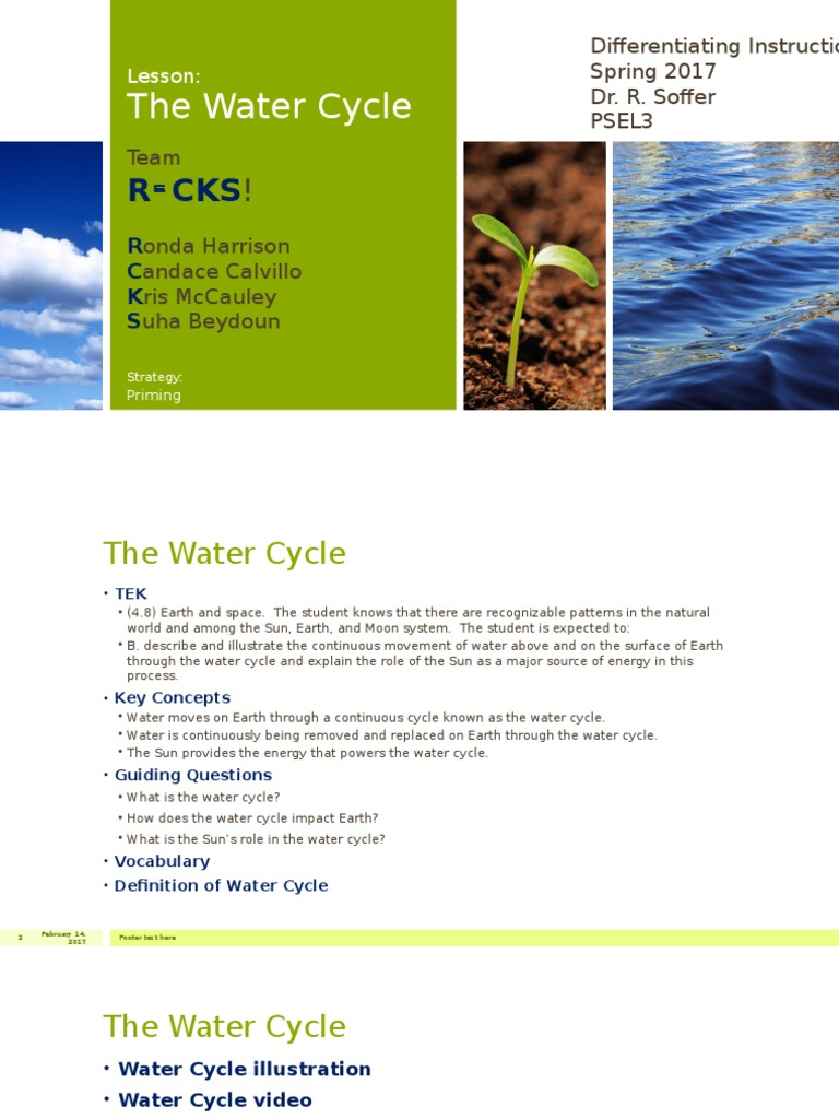 the water cycle | water cycle | water vapor