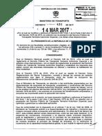 Lista reglamentación para servicio de transporte especial