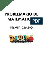 Problemario de Matematicas 1er Grado