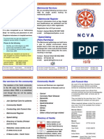 NCVA Services Leaflet