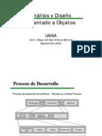 ANALISIS Y DISEÑO CON UML