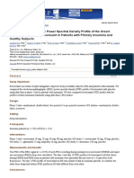 Electroencephalographic Power Spectral Density Profile of the Orexin Receptor Antagonist Suvorexant in Patients With Primary Insomnia and Healthy Subjects