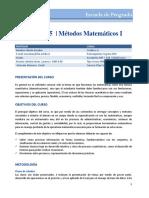 Mem105 Metodos Matematicos i