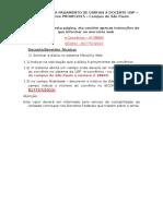 Roteiro e Formulários de Diárias à Professores