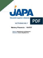 Marleny Plasencia 16-8737 - Administracion de Empresas NO.1