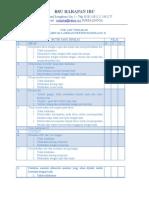 Cek List Tindakan Penjahitan Laserasi Perineum Derajat II