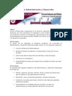 Licenciatura en Administración y Desarrollo Empresarial