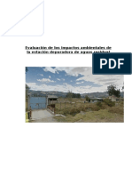 Evaluación de Los Impactos Ambientales de La Estación Depuradora de Aguas Residual