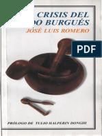 José Luis Romero. La crisis del mundo burgués