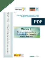 TECNICAS E INSTRUMENTOS DE LA EVALUACION DE LA FORMACION TECNICA EN EL AULA
