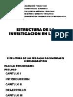 Estructura de La Investigación en La UFT