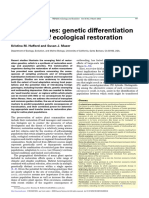 225 Plant Ecotypes Genetic Differentiation in the Age of Ecological Restoration