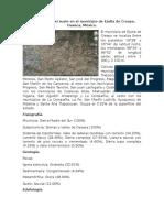 Clasificación Del Suelo en El Municipio de Ejutla de Crespo