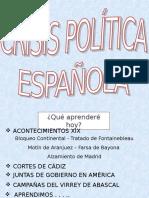 Crisis Política Española - 4to