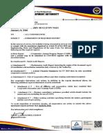 CDA Bulletin No.01