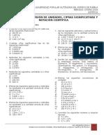 01 Ejercicios Conversión de Unidades, Cifras Significativas y Notación Científica FB O16