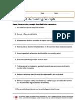 Accounting Worksheet - Basic Concepts
