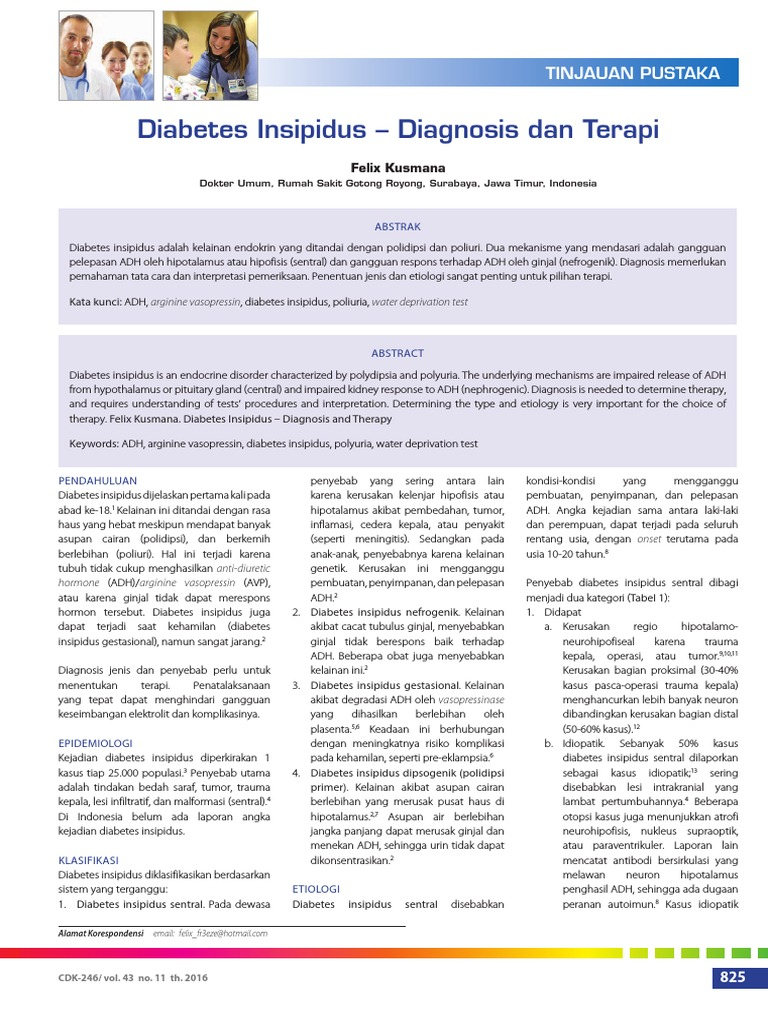 prueba de diabetes insípida ddavp para diabetes