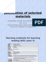 Justification of Selected Materials
