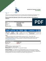 bus ticket sample