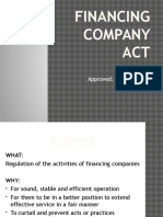 Financing Company Act
