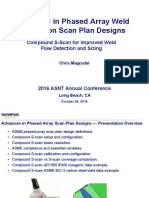 Advances in Phased Array Weld Inspection Scan Plan Designs