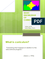 Basic Knowledge of Curriculum