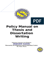 01-Policy Manual on Thesis and Dissertation Writing