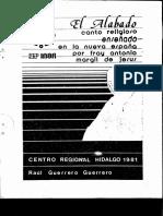 """""""El Alabado, canto religioso enseñado en la Nueva Espala por Fray Antonio Margil de Jesús """" Autor"""