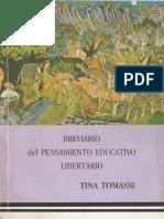 Tina Tomassi, Brevario Del Pensamiento Educativo Libertario