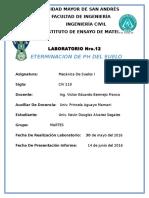 ANALISIS DE PH DEL SUELO PARA LA CONSTRUCCION