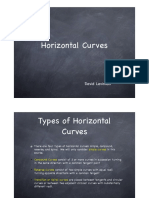 Horizontal Curve - Design brief